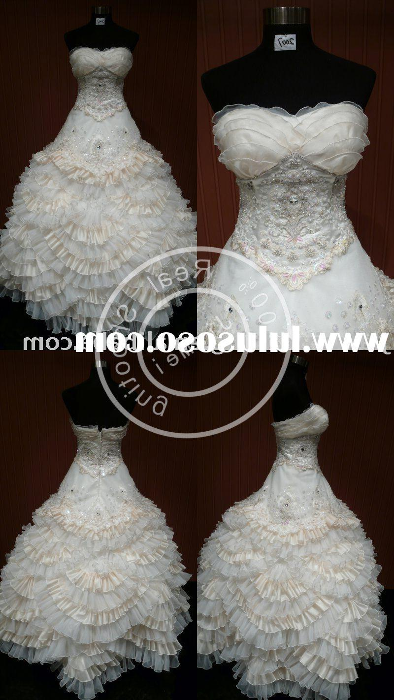 wedding dress appliqued bridal