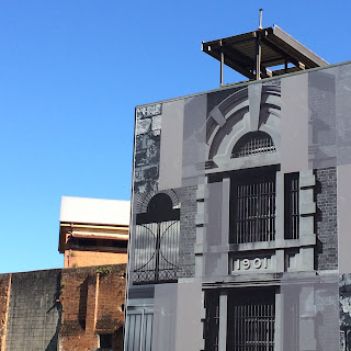 Old jail tower and new facade at Boggo Road Jail