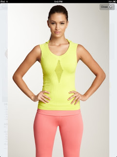 STyle Athletics NUX ACtivewear Yellow Tank Top Orange Peach Pants