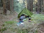 Nachtlager am Rande des Nationalpark Harz.