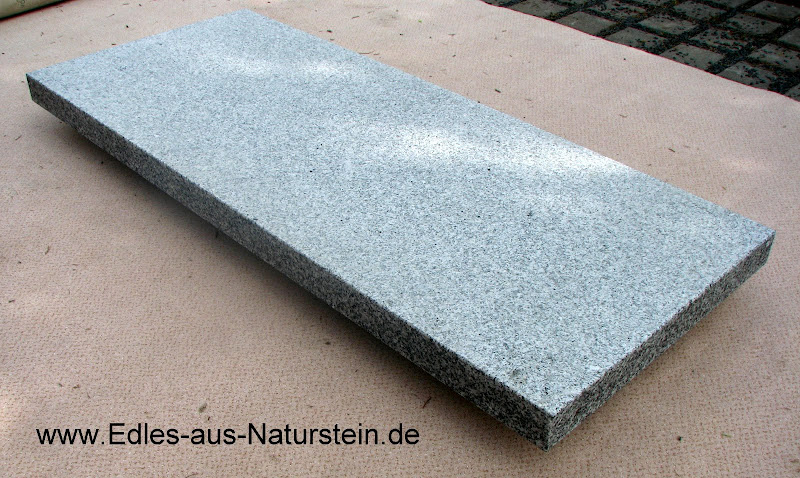 trittstufe granit grau 180 35 4cm blockstufe f r aussentreppe auf stahlgestell ebay. Black Bedroom Furniture Sets. Home Design Ideas