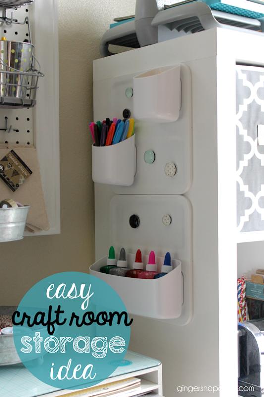 easy craft room storage idea