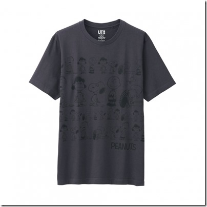 UNIQLO UT X Peanuts Movie Men Short Sleeve Graphic T-Shirt 04