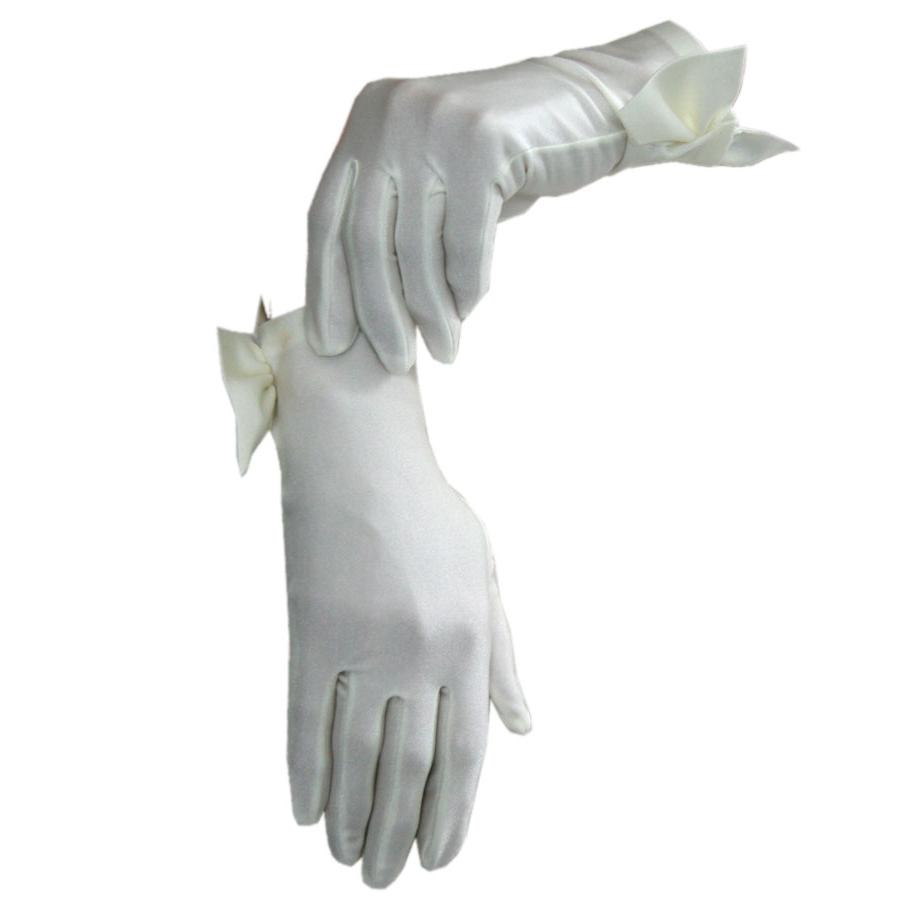ivory wedding short gloves