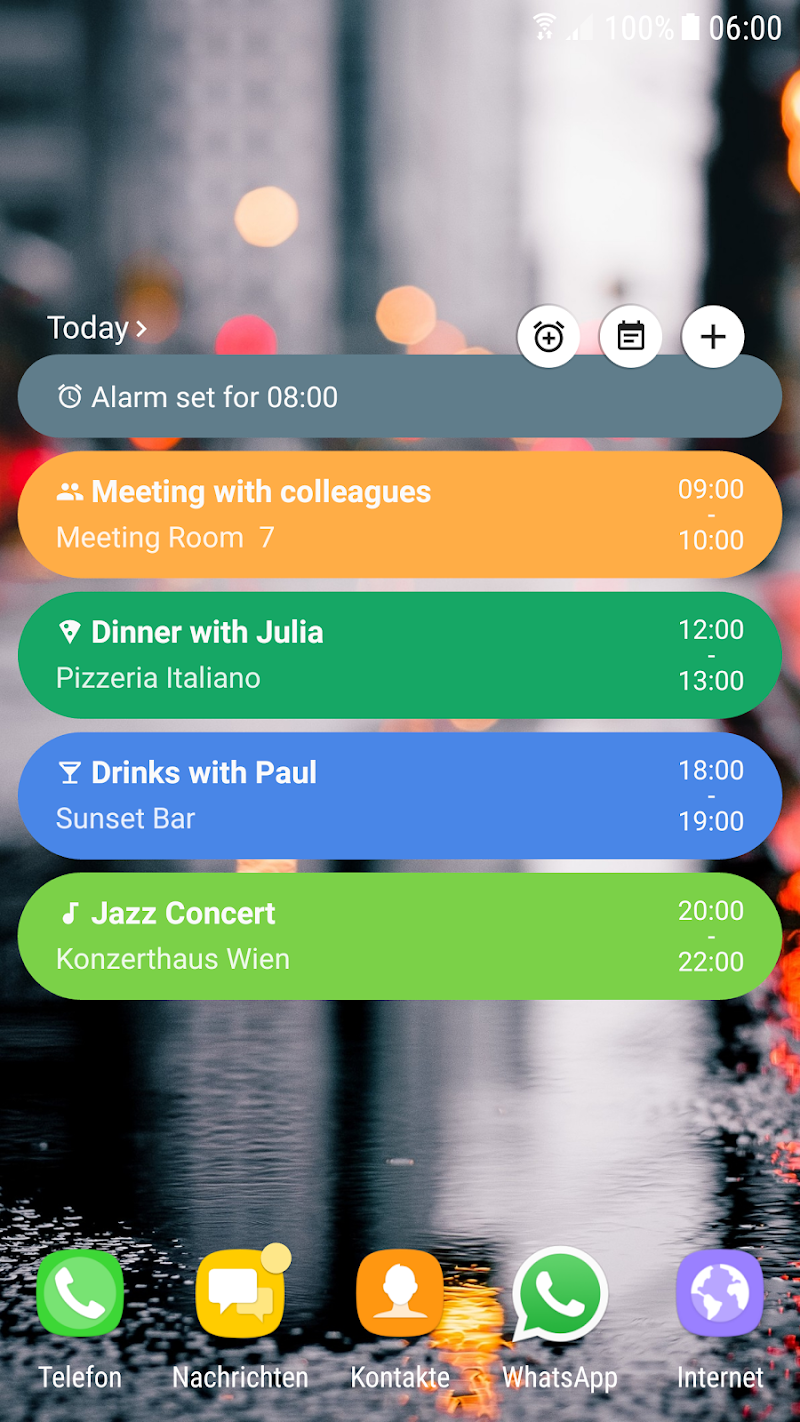 Calendar Agenda Widget (Material Design) Screenshot 1