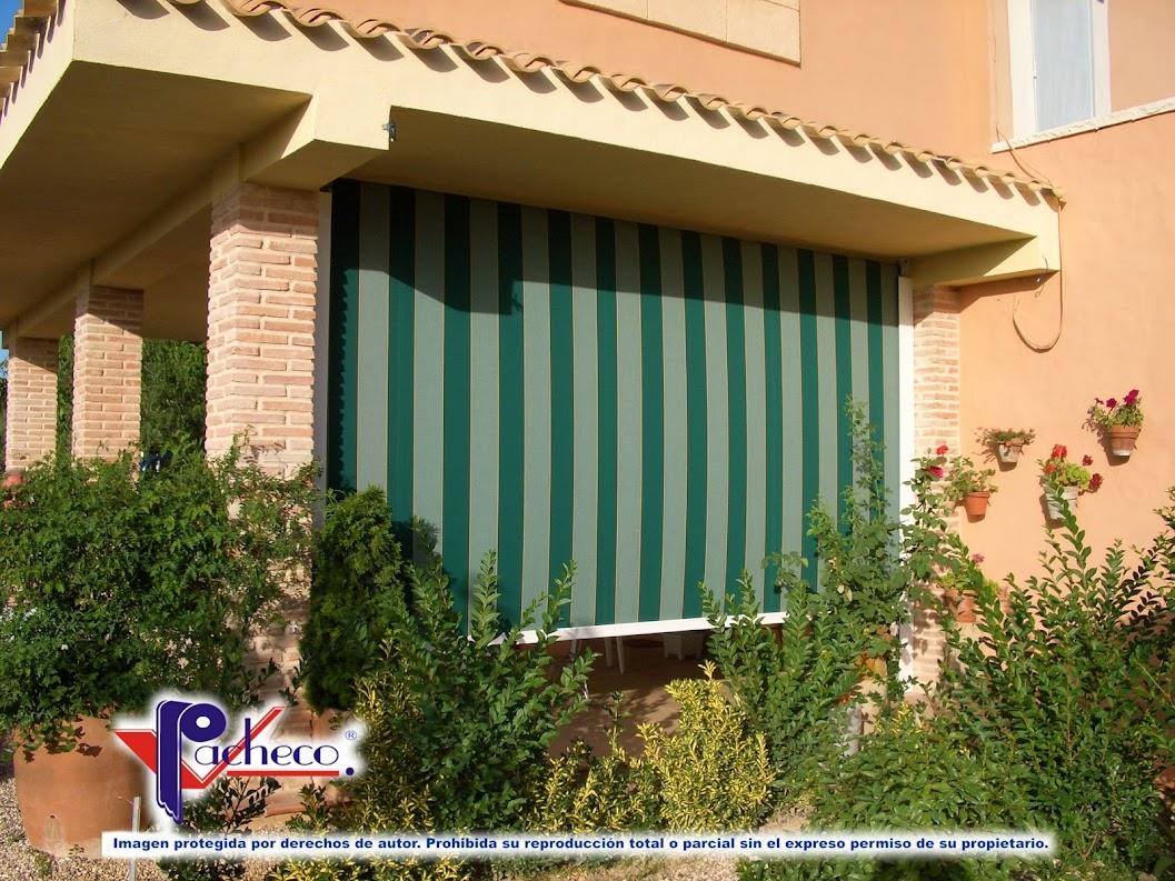 Que toldos se instalan para porches en alberic valencia for Sistemas rieles para toldos