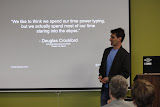 My dependency injection talk at WordCamp Nashville (photo by Patricia Melton)