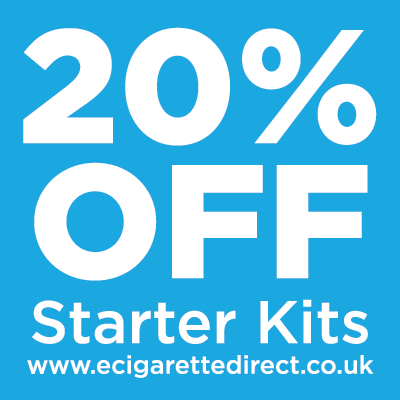 e cigarette direct 20% off starter kits