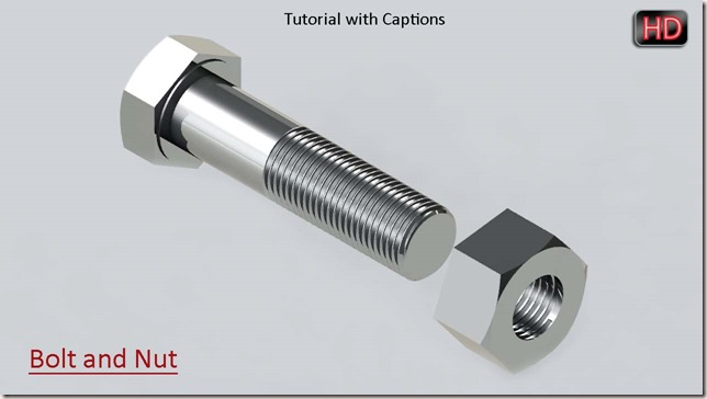 Bolt and Nut with captions (YouTube Icon)