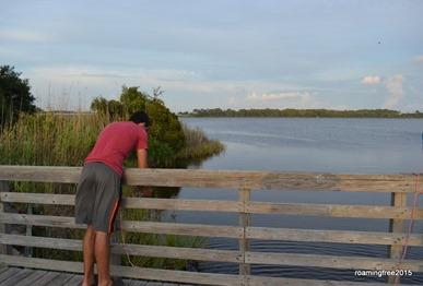 Checking crab traps