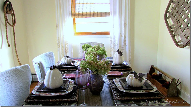 Autumn Dining with modern and traditional place settings