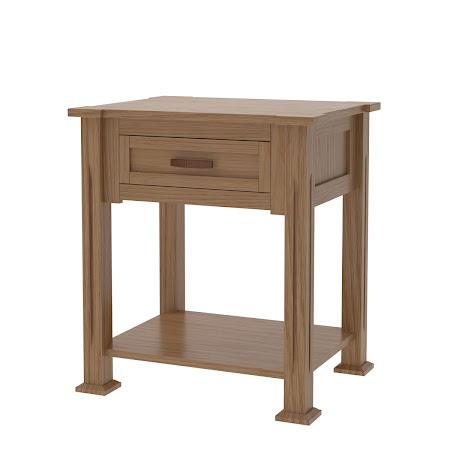 Sacramento Nightstand with Shelf, Natural Oak