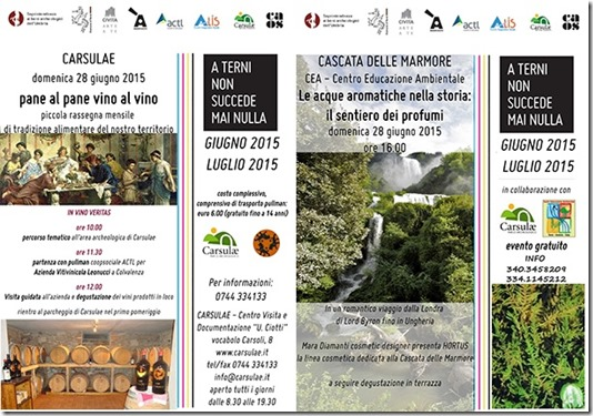 Eventi Weekend Cascata e Carsulae
