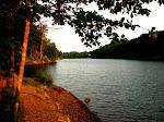 Along a lakeside path.