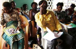 "Photo by l'Association des Femmes Solidaires: Survivors of violence undergo training and counseling in Brazzaville. Source:  <a href=""http://www.apc.org/en/news/congolese-students-and-survivors-use-icts-prevent-"">Congolese students and survivors use ICTs to prevent the spread of violence</a> Credit:  Association for Progressive Communications (APC) - www.apc.org  By Sylvie Niombo for APC BRAZZAVILLE, Republic of Congo, 27 October 2010 Posted to http://congowatch.blogspot.com 02 Nov 2010"