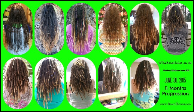 11 Mo Dread Progress collage