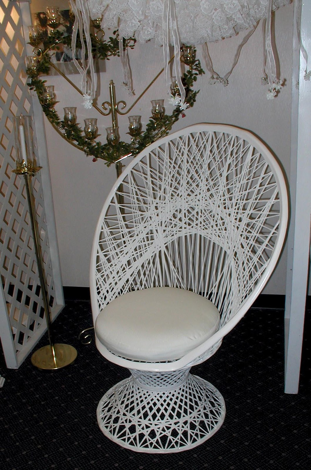 White Fan Back Chair