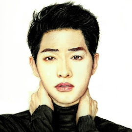 Song Joong Ki by Cheong Plyn - Digital Art People ( fashion, colourpencil, style, artsy, mixed media, kpop, artist, drawing )