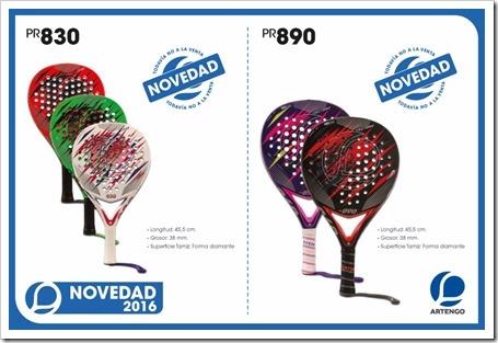 Colección Palas Pádel ARTENGO 2015-16 MODELOS 3