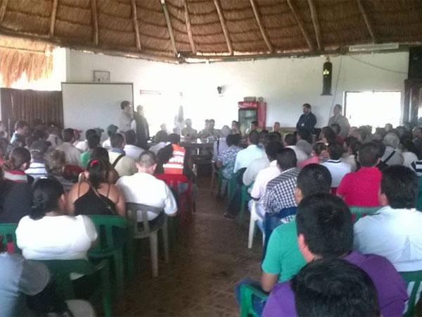 Comunidades de Apiay exigiendo inversión social y ambiental a Ecopetrol