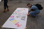 Emilio preparando el Muro Scout