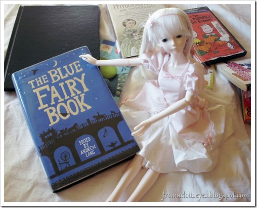 Ball Jointed Doll Presenting The Blue Fairy Book