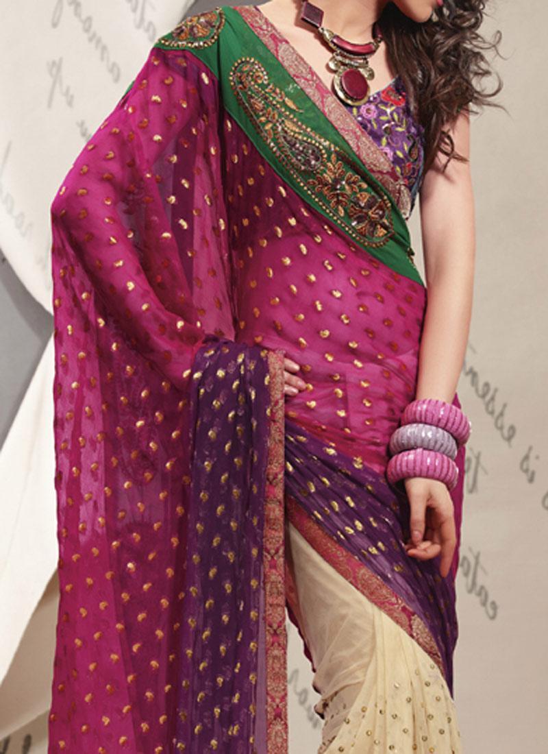 Exquisite Rainbow Saree