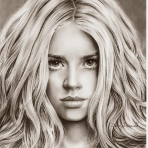 Картинки девушек рисованные карандашом.
