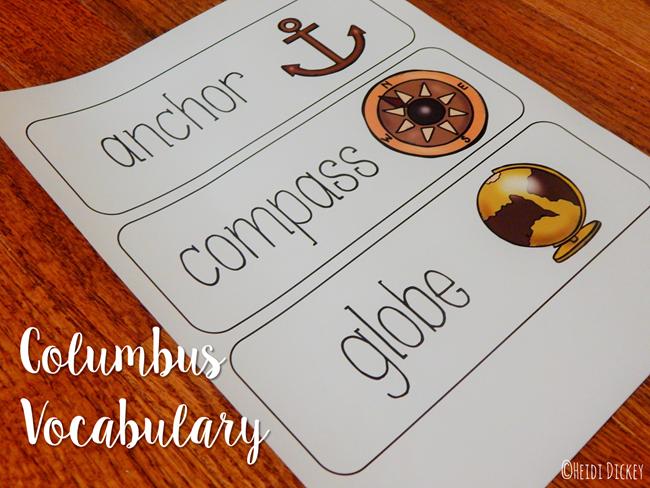 Columbus Vocabulary