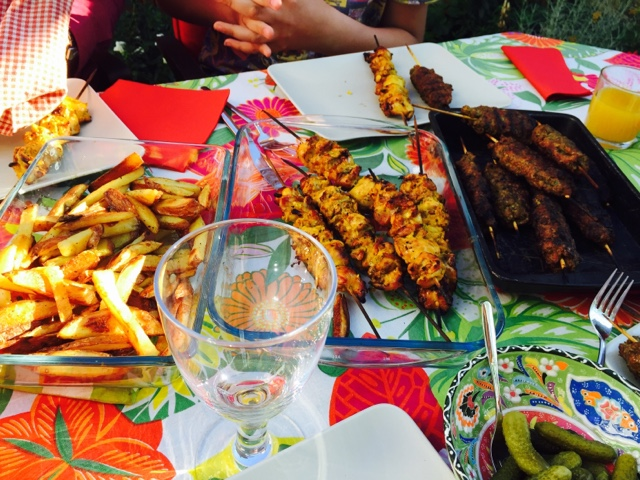 Mixed Persian grill - Joojeh kebab, kebab koobideh
