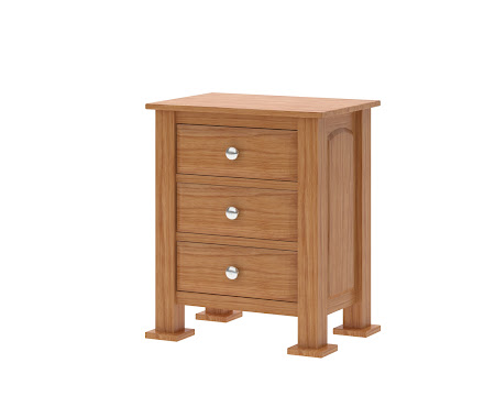 Concord Nightstand with Drawers, Manor Hickory