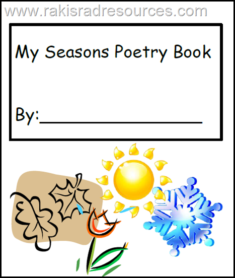 Free download - seasons poetry writing journal from Raki's Rad Resources.