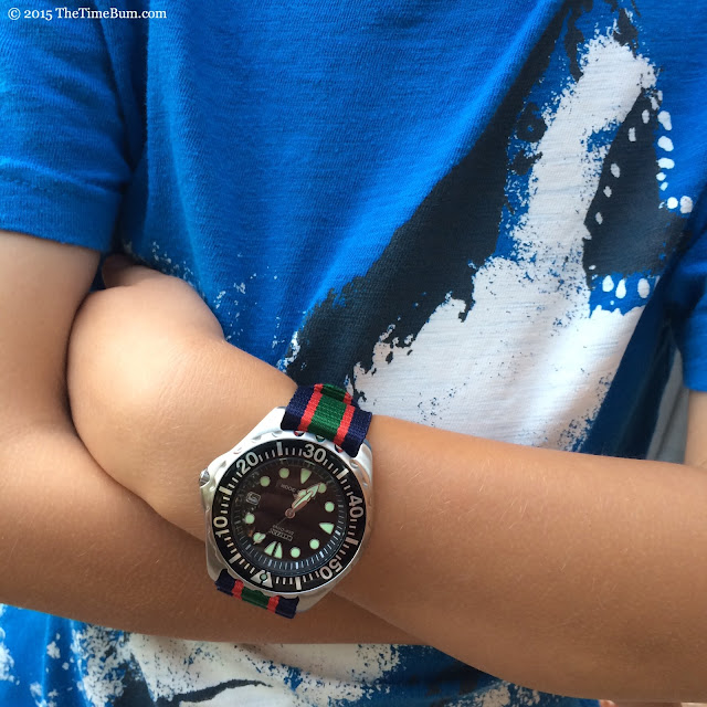 Citizen Promaster Diver on a 6 year old