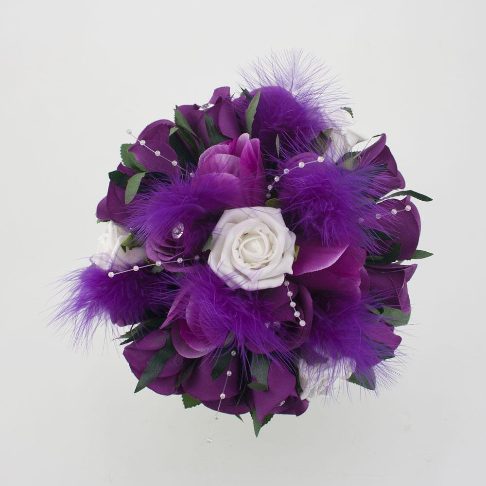 Purple and White Bridal Posy
