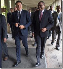 Matteo Renzi e Hailemariam Desalegn