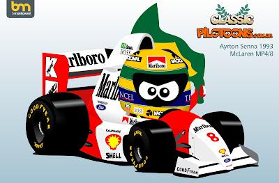 Айртон Сенна McLaren MP4-8 1993 - pilotoons