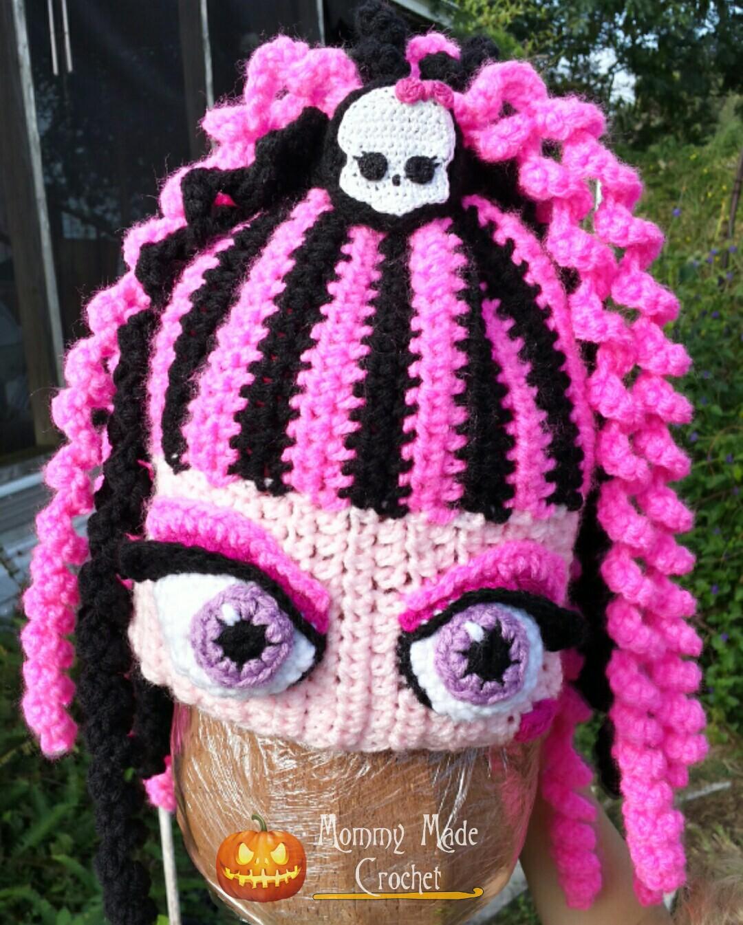 Exelent Monster Hat Crochet Pattern Adornment - Easy Scarf Knitting ...