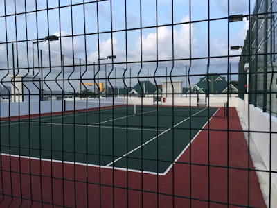 Tennis court at roof top