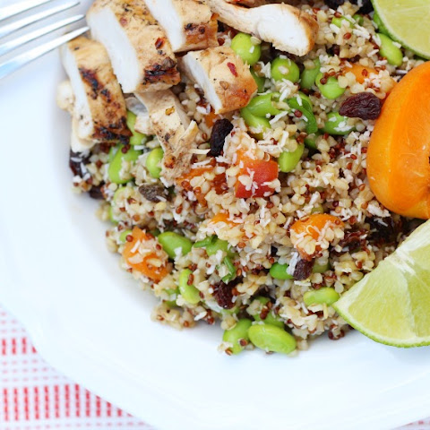 Flippin' Good Summer Quinoa Salad & Honey Glazed Chicken