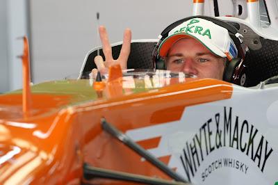 Нико Хюлькенберг в кокпите Force India на Гран-при Кореи 2012