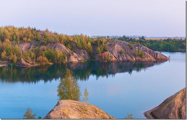 романцевские горы на фоне озер