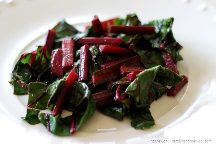 Sauteed Beet Greens via homework (5)