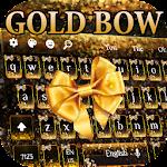 Gold Glitter Bowknot Keyboard Theme Icon