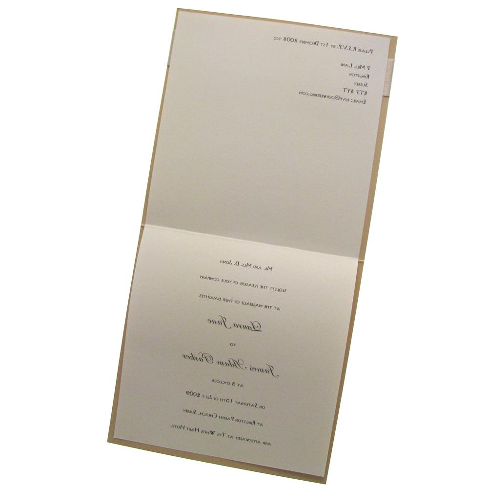 Cameo Wedding Invitation