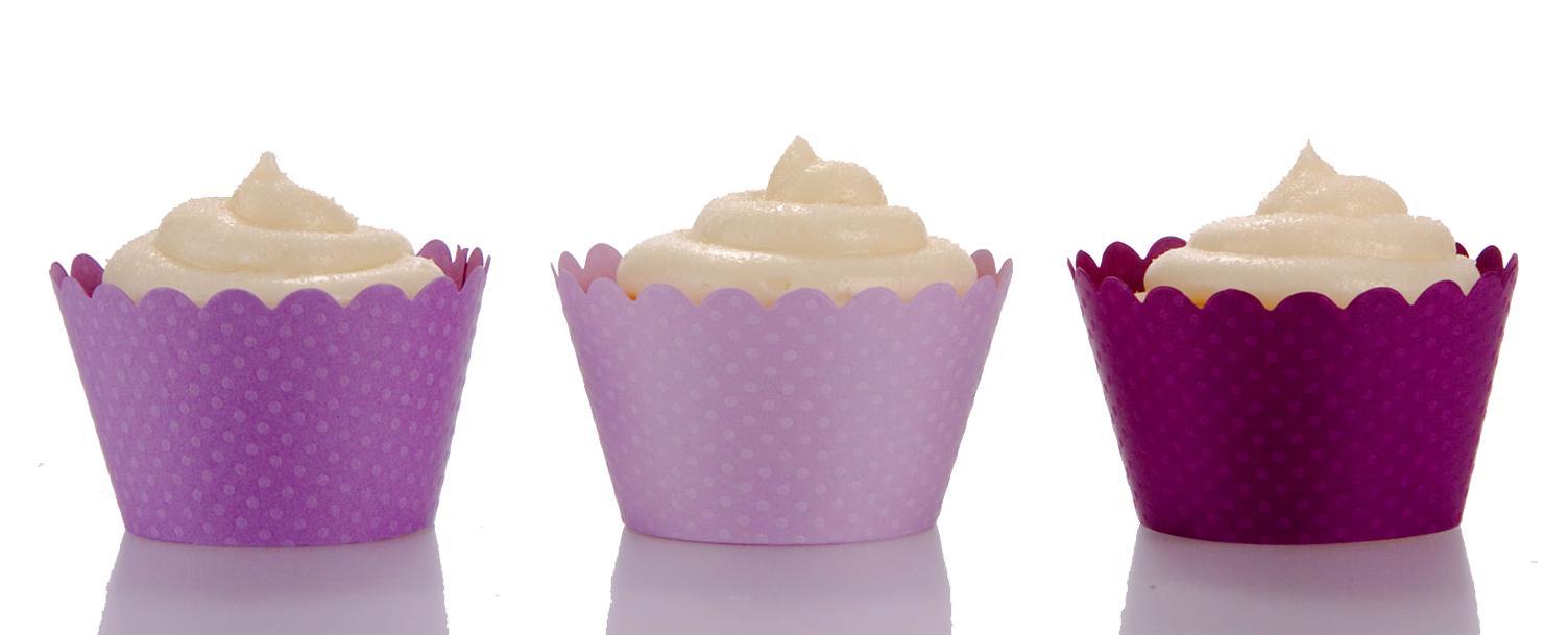 Emma Purple Trio Cupcake