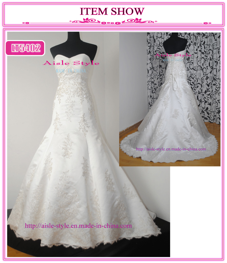 Strapless Lace Motif With