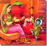 [Krishna dancing with Yashoda]