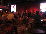 Hannah watching people line dance in the Wildhorse Saloon in Nashville TN 09032011
