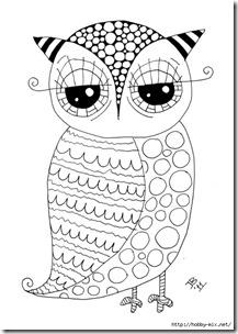 dibujos de buhod en blanco y negro (32)