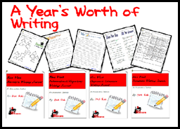 Back to School Tip - Take time now to print and bind together what your students will need, like this year's worth of writing journals,  for the entire school year. This helps your save time, sanity and quality teaching practices later. Suggestions from Raki's Rad Resources